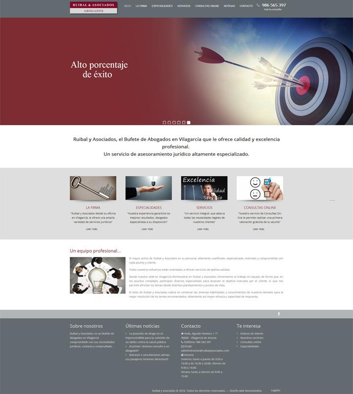 Diseño pagina web Bufete Abogados Ruibal y Asociados