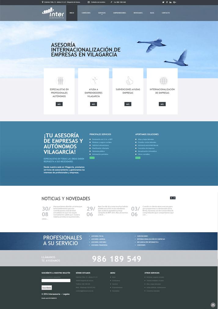 Diseño pagina para Asesoría de empresa Interasesoría