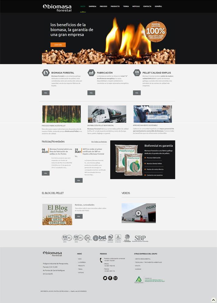 Ejemplos diseño web. Diseño pagina web Biomasa Forestal
