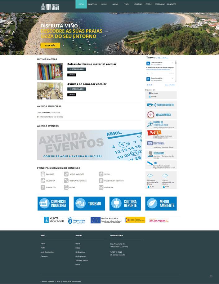 Diseño pagina para el Ayuntamiento de Miño