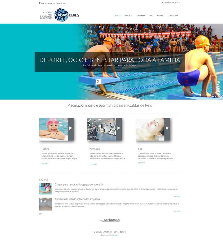 Diseño pagina web para Piscina de Caldas