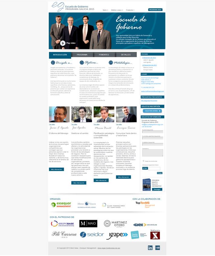 Diseño pagina web Escuela de Gobierno