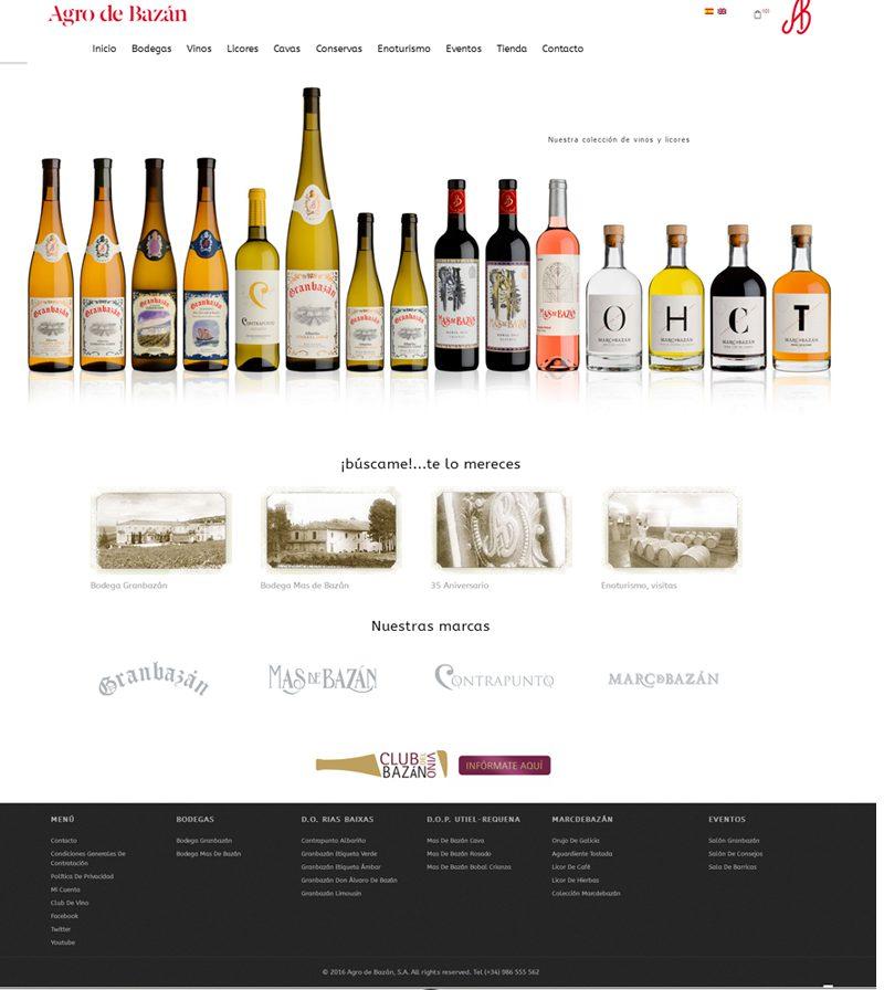 Diseño tienda online para Bodega Agro de Bazán