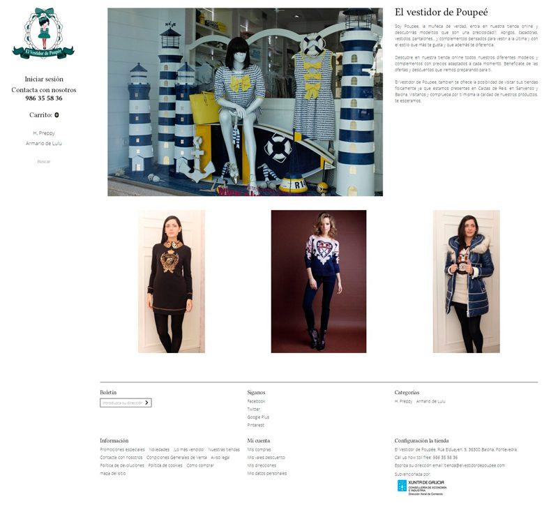 Diseño tienda online para El Vestidor de Poupee