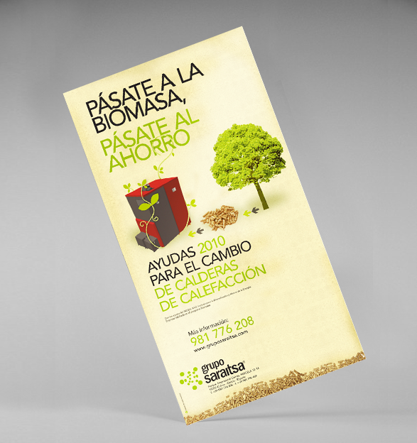 Ejemplo de diseño de un cartel en papel hecho por NOVOSmedios