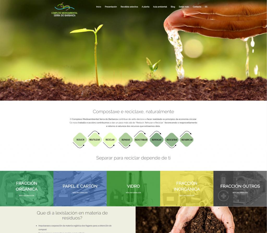 Ejemplo de diseño de una página web en 2 idiomas hecha para una empresa de A Coruña