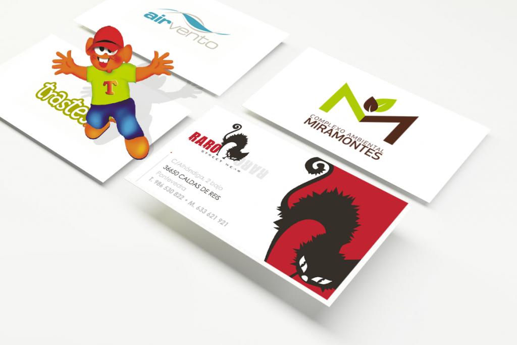 Ejemplo de diseño de distintos logotipos hechos por NOVOSmedios